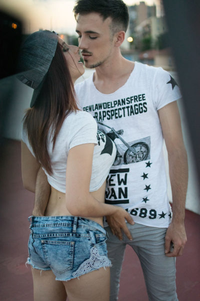 Con su novia Zenda